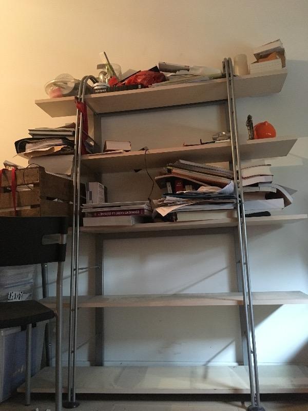 Recyclage, Récupe & Don d'objet : étagère bibliothèque étudiant