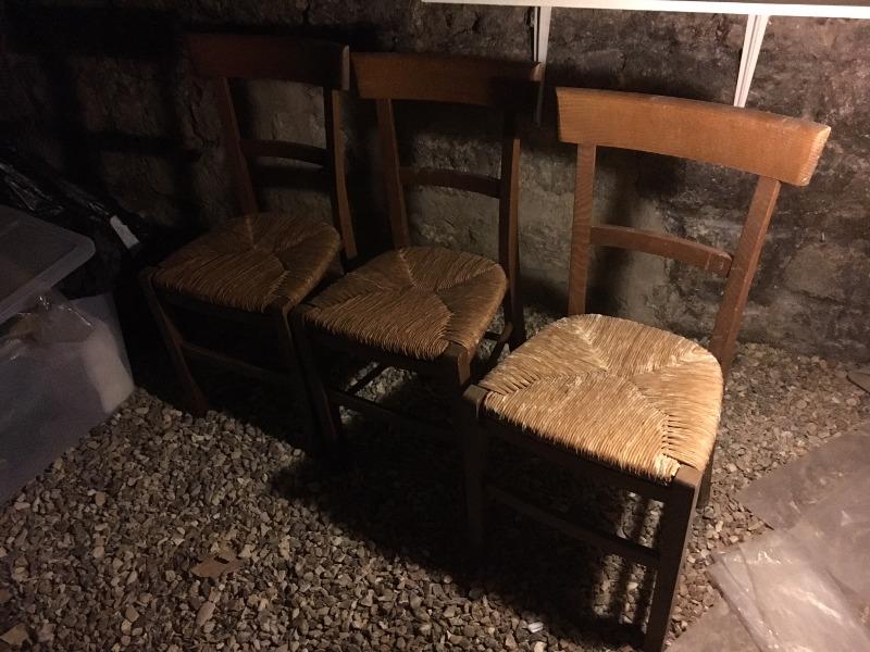 Recyclage, Récupe & Don d'objet : 3 chaises en rotin