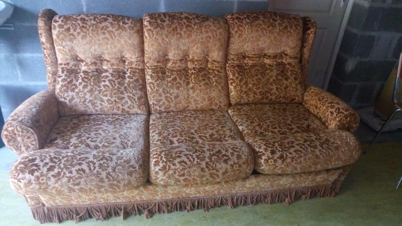 Recyclage, Récupe & Don d'objet : canapé + 2 fauteuils