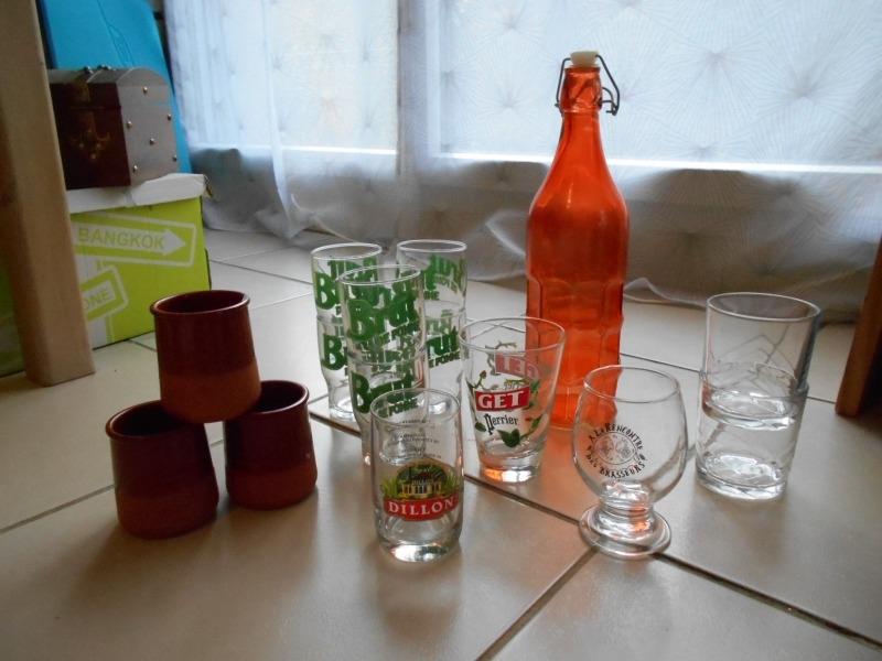 Recyclage, Récupe & Don d'objet : lot de verres