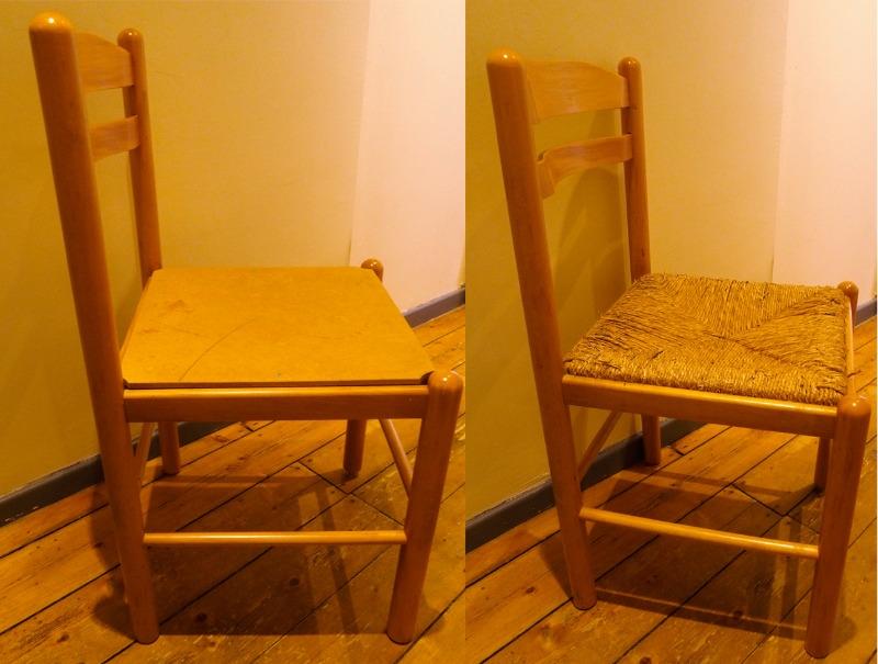 Recyclage, Récupe & Don d'objet : 2 chaises en bois