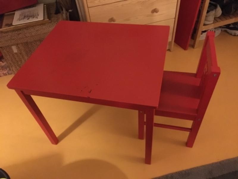 Recyclage, Récupe & Don d'objet : bureau et chaise enfant