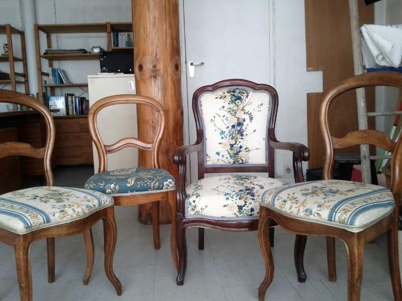 Recyclage, Récupe & Don d'objet : 3 chaises et un fauteuil