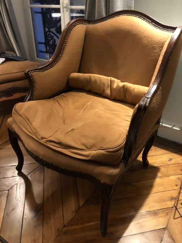 Recyclage, Récupe & Don d'objet : fauteuil avec repose pied