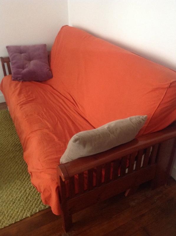 Recyclage, Récupe & Don d'objet : canapé lit type futon