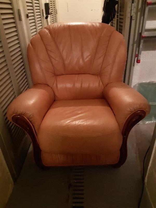 Recyclage, Récupe & Don d'objet : fauteuil en cuir