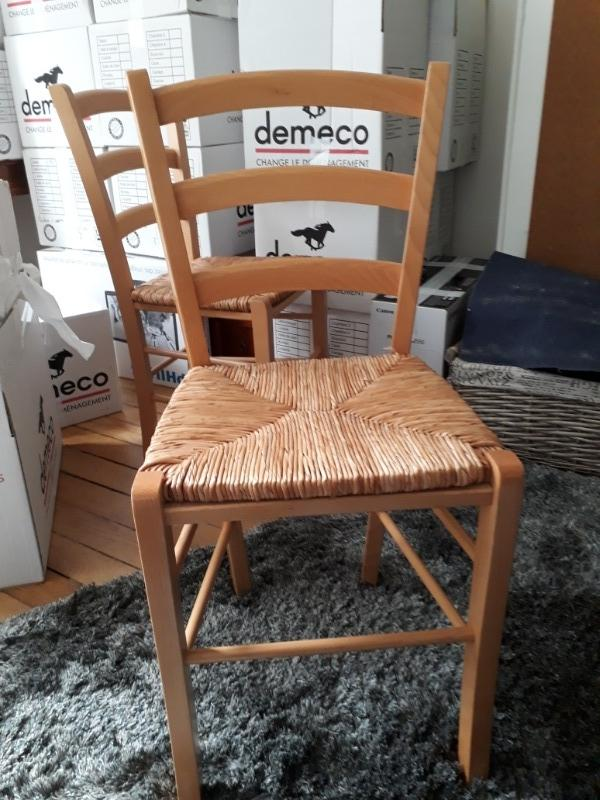 Recyclage, Récupe & Don d'objet : 2 chaise en bois