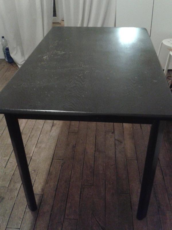 Recyclage, Récupe & Don d'objet : table noire bois