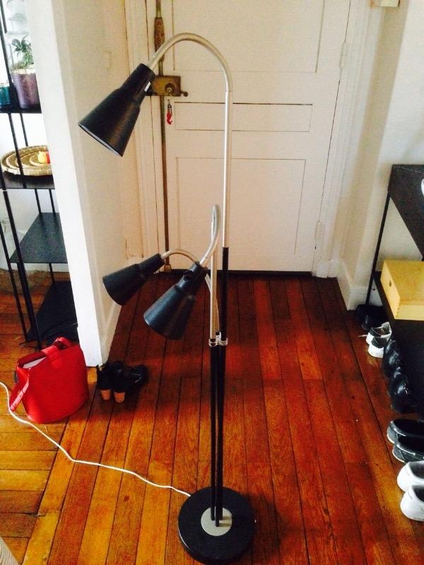 Recyclage, Récupe & Don d'objet : lampe de salon