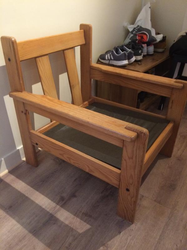 Recyclage, Récupe & Don d'objet : fauteuil en bois