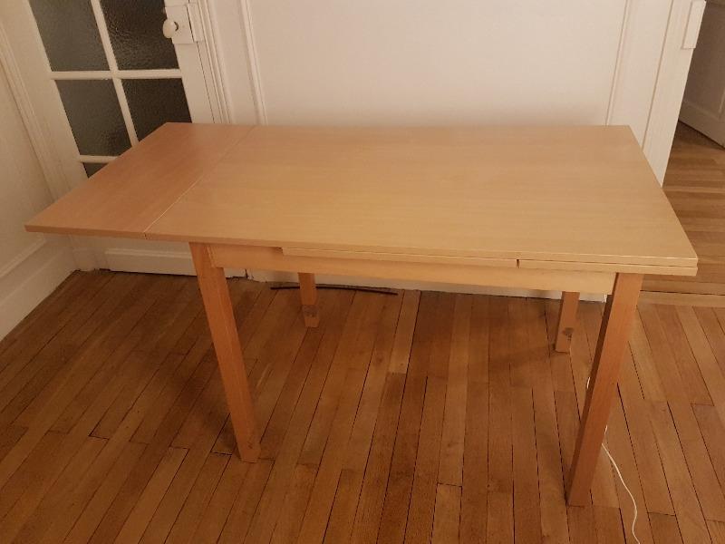 Recyclage, Récupe & Don d'objet : table extensible