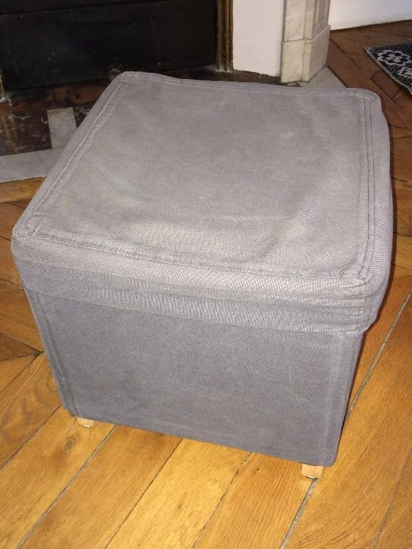 Recyclage, Récupe & Don d'objet : pouf carré 40x40
