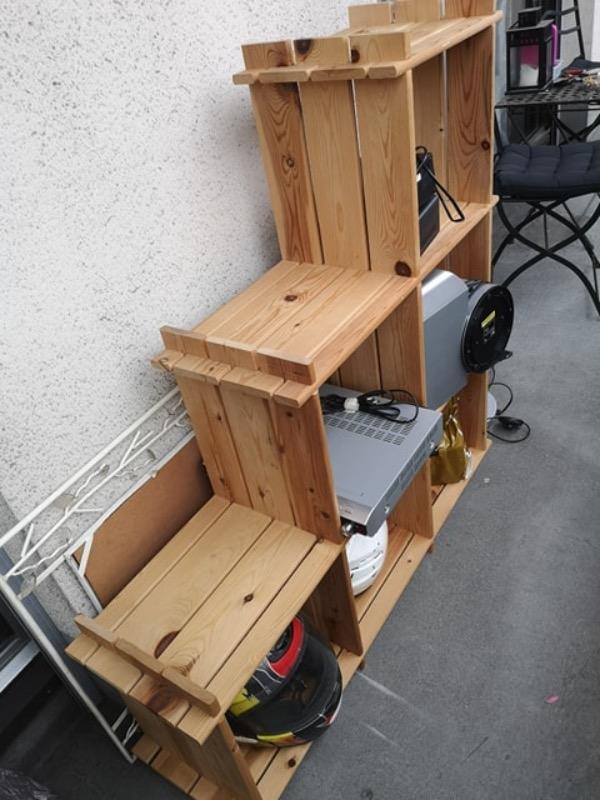 Recyclage, Récupe & Don d'objet : etagère cubes en escalier