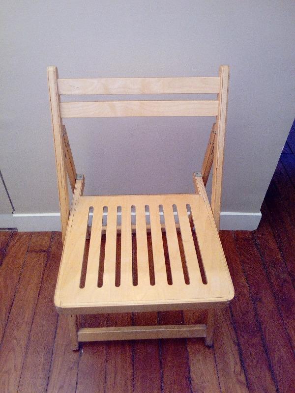 Recyclage, Récupe & Don d'objet : chaises pliantes