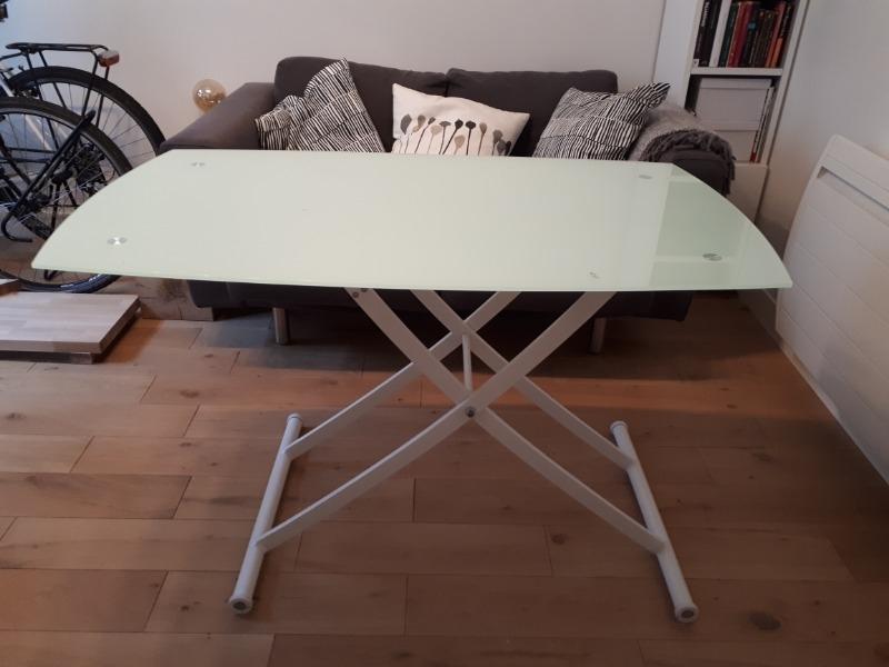 Recyclage, Récupe & Don d'objet : table basse hauteur reglable