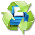 Recyclage, Récupe & Don d'objet : service vaisselle blanc avec lisere bleu