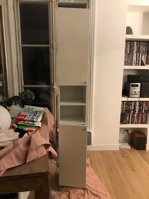 recyclage objet r cupe objet donne meuble de salle de bain colonne rangement r cup rer. Black Bedroom Furniture Sets. Home Design Ideas