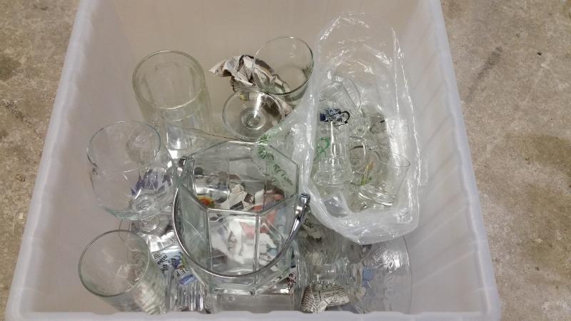 Recyclage, Récupe & Don d'objet : lot de verres dépareillés