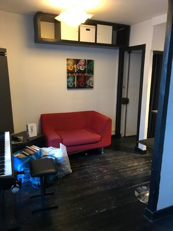 Recyclage, Récupe & Don d'objet : petit sofa rouge