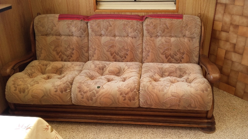 Recyclage, Récupe & Don d'objet : canapé et 2 fauteuils