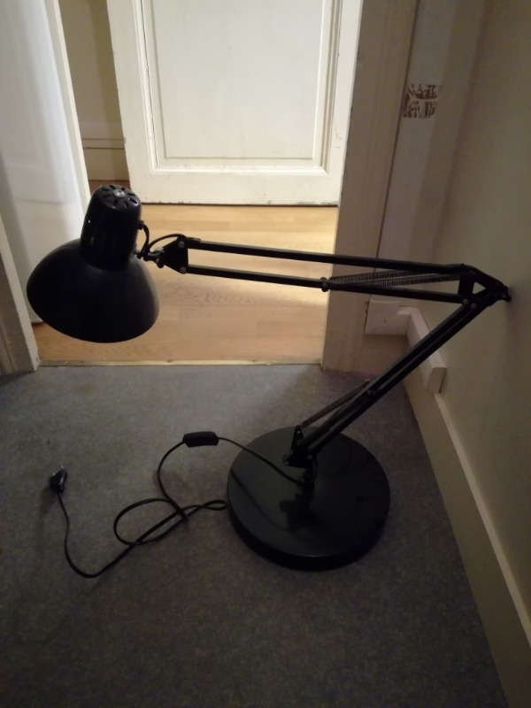 Recyclage, Récupe & Don d'objet : 2 lampes de bureau articulables noires