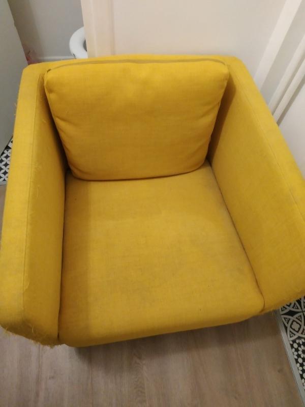 Recyclage, Récupe & Don d'objet : fauteuil jaune