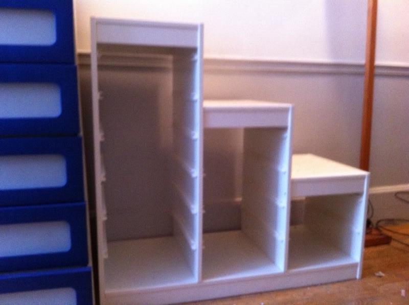 Recyclage, Récupe & Don d'objet : Étagère en bois blanche