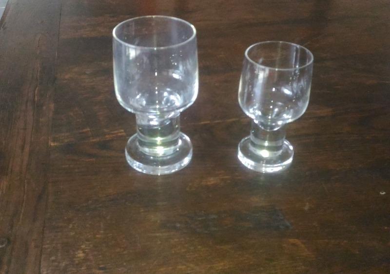 Recyclage, Récupe & Don d'objet : verres en demi cristal
