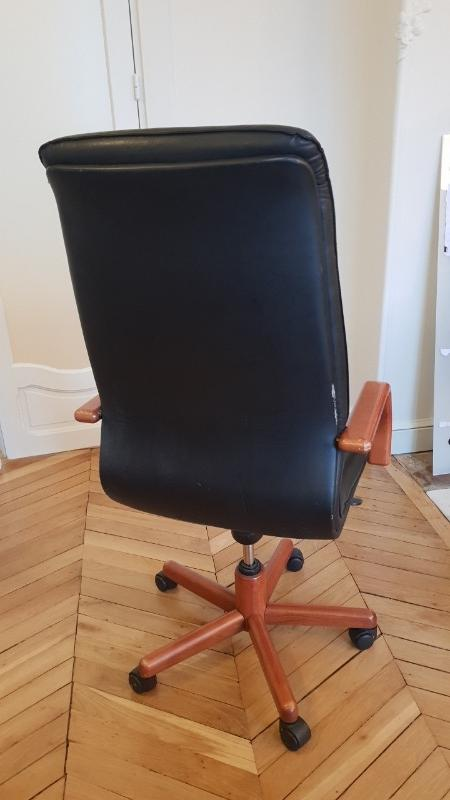Recyclage, Récupe & Don d'objet : fauteuil de bureau 'président'