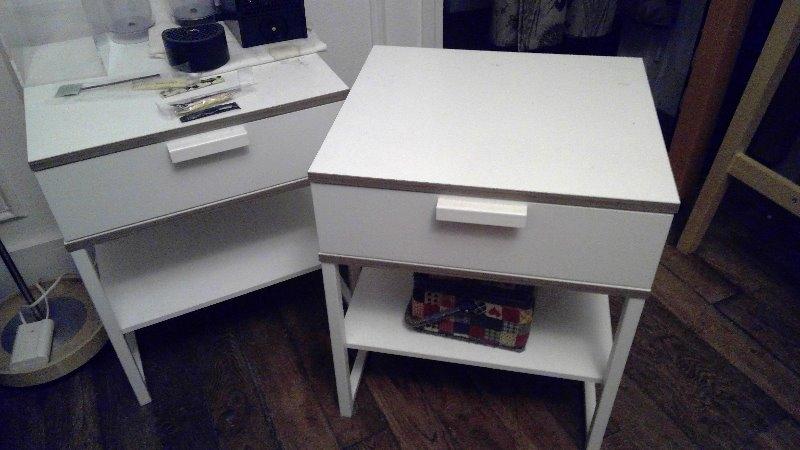 Recyclage, Récupe & Don d'objet : tables de chevet, lampes