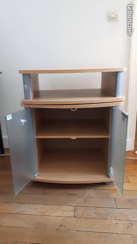 Recyclage, Récupe & Don d'objet : meuble tv pivotant