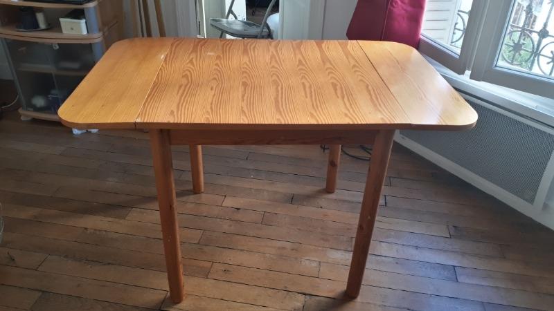 Recyclage, Récupe & Don d'objet : table extensible / rétractable en bois
