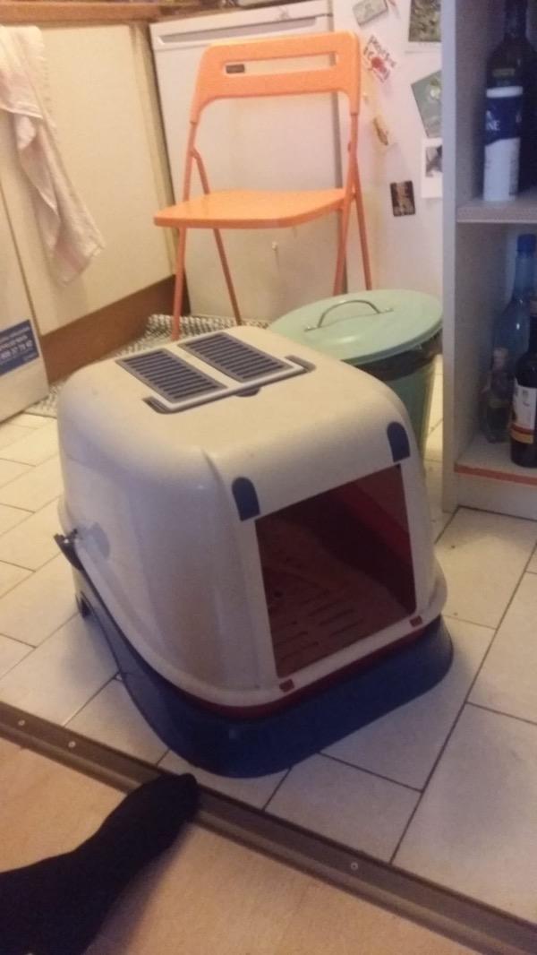Recyclage, Récupe & Don d'objet : boite litière à chat