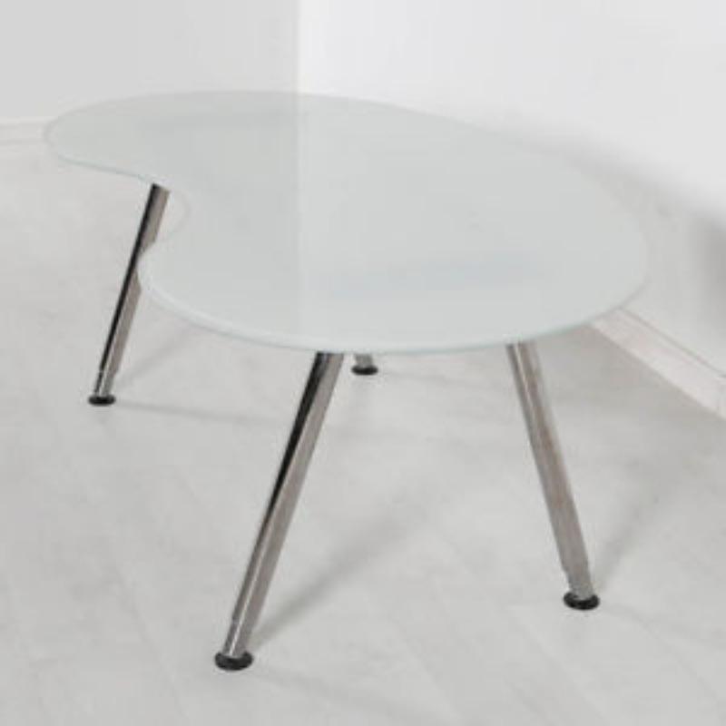 Recyclage, Récupe & Don d'objet : table basse / bureau courbe, hauteur régla...