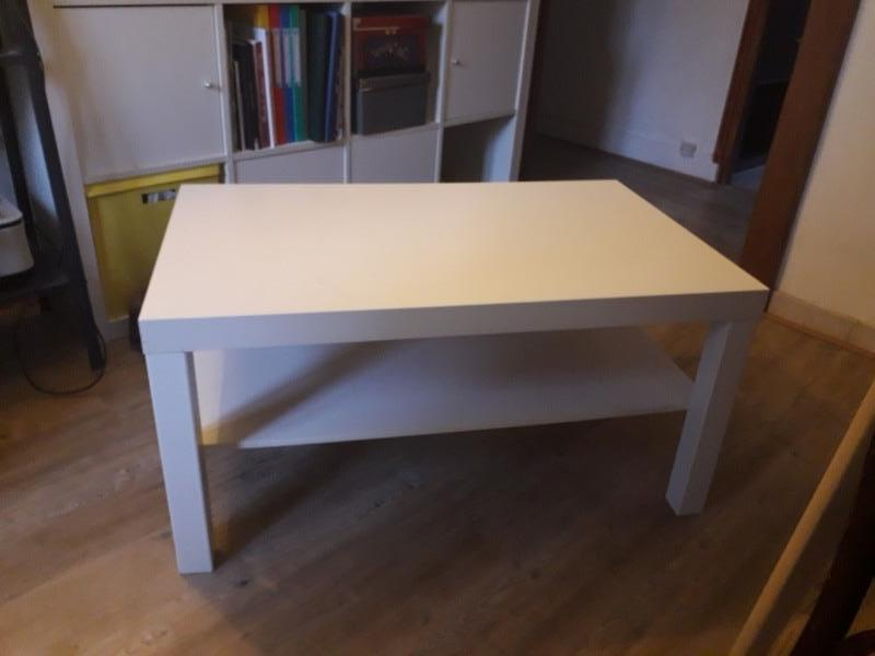 Recyclage, Récupe & Don d'objet : table basse rectangulaire ikea blanche