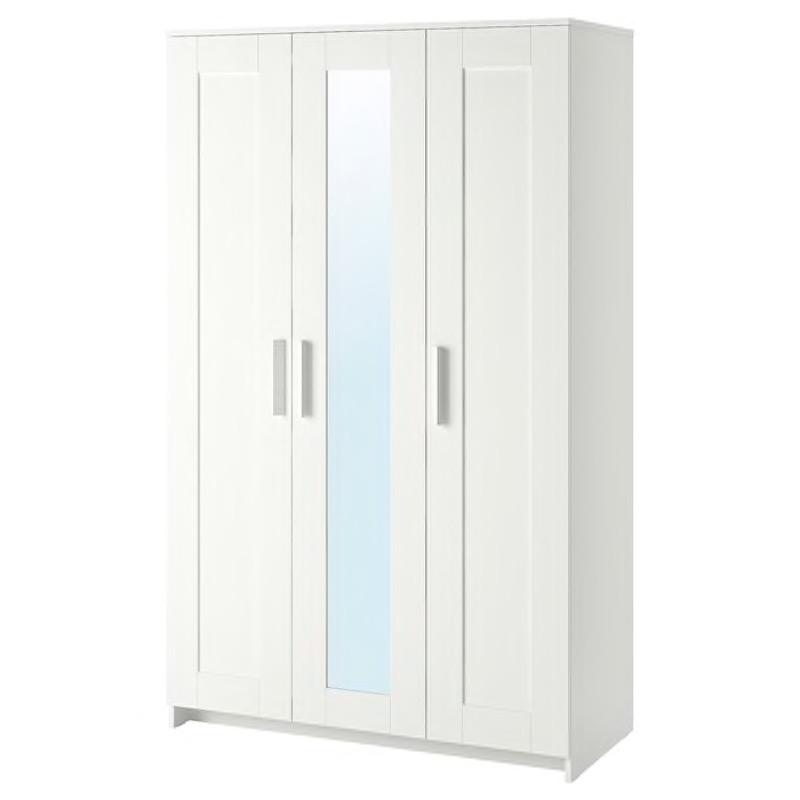 Recyclage, Récupe & Don d'objet : armoire blanche 3 portes avec miroir