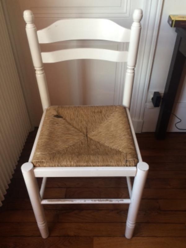 Recyclage, Récupe & Don d'objet : 2 chaises paillées en bois