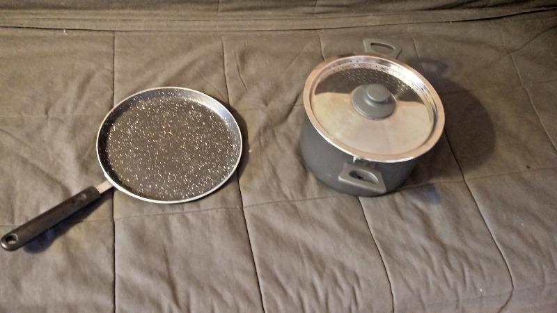 Recyclage, Récupe & Don d'objet : casserole + poêle à crêpes