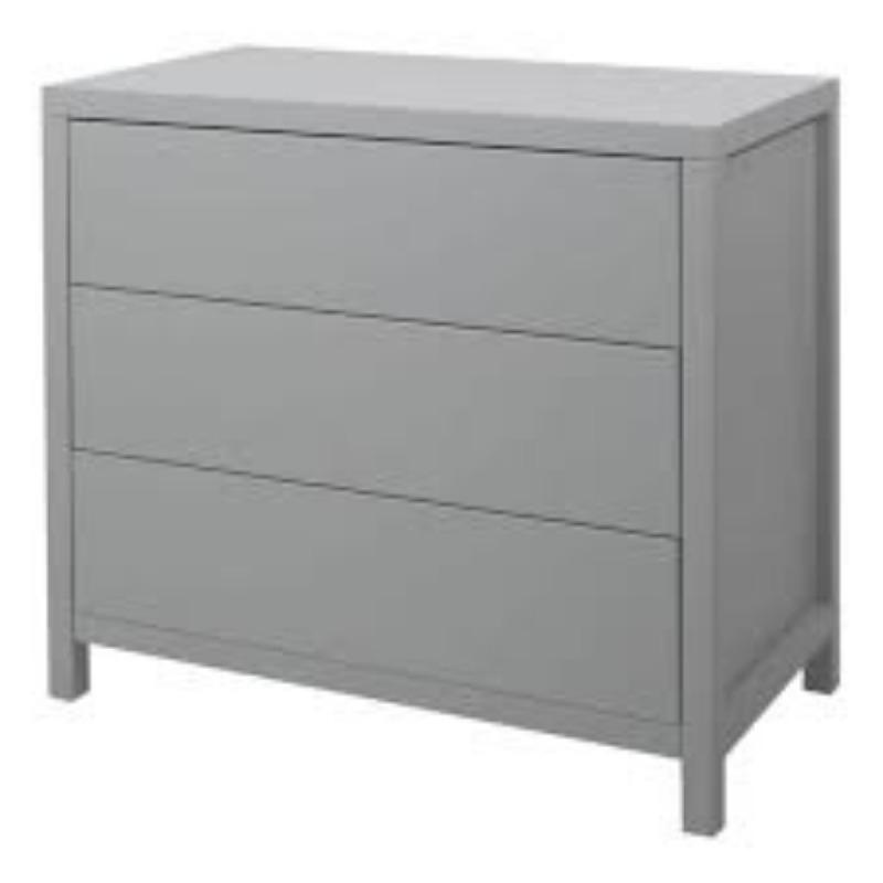 Recyclage, Récupe & Don d'objet : commode trois tiroirs grise quax