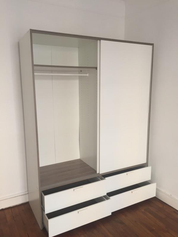 Recyclage, Récupe & Don d'objet : armoire blanche 2 portes + 4 tiroirs - lak...