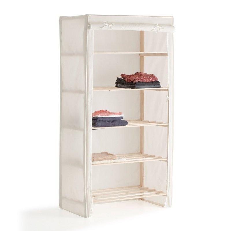 Recyclage, Récupe & Don d'objet : etagère penderie structure en bois recouve...