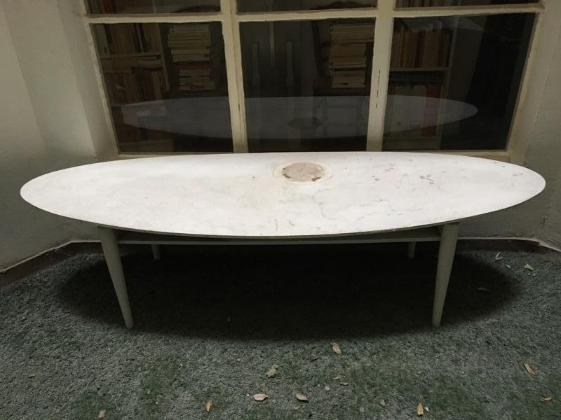 Recyclage, Récupe & Don d'objet : table basse ovale