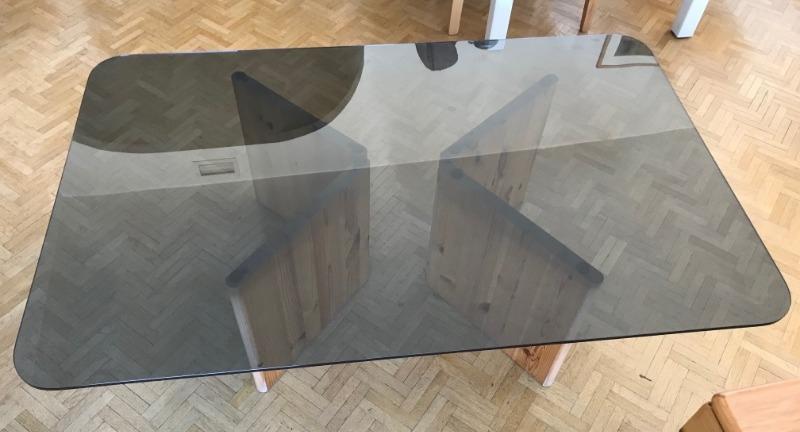 Recyclage, Récupe & Don d'objet : table basse en verre