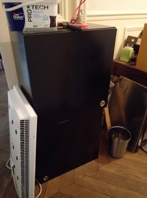 Recyclage, Récupe & Don d'objet : 2 element mural avec porte noir laqué