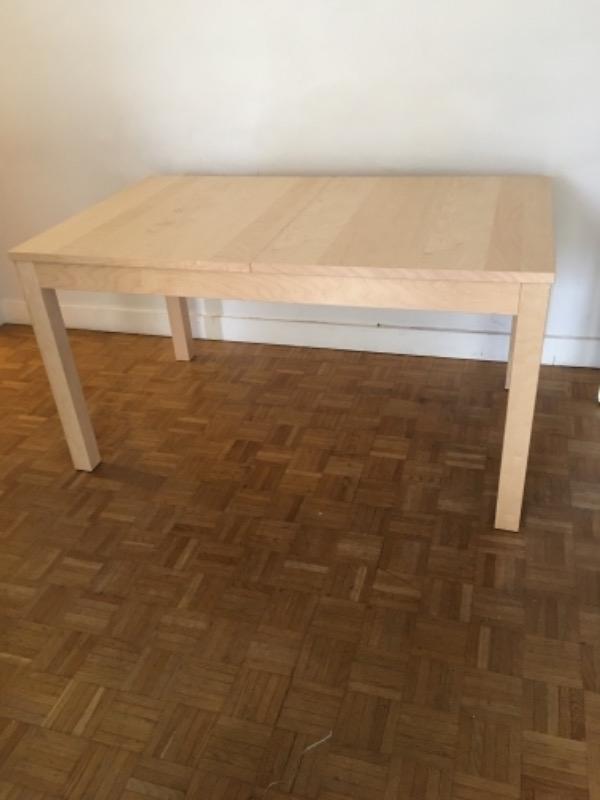 Recyclage, Récupe & Don d'objet : table salle à manger ikea