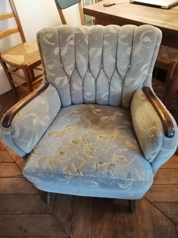 Recyclage, Récupe & Don d'objet : fauteuil années 50/60