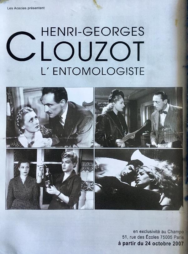 Recyclage, Récupe & Don d'objet : poster henri-georges clouzot cinéma