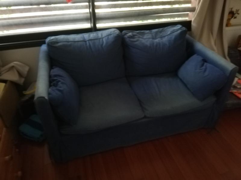 Recyclage, Récupe & Don d'objet : canapé lit ikea bleu