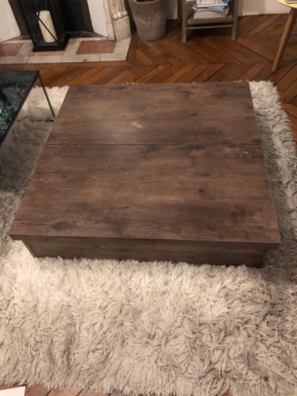 Recyclage, Récupe & Don d'objet : table basse en bois naturel