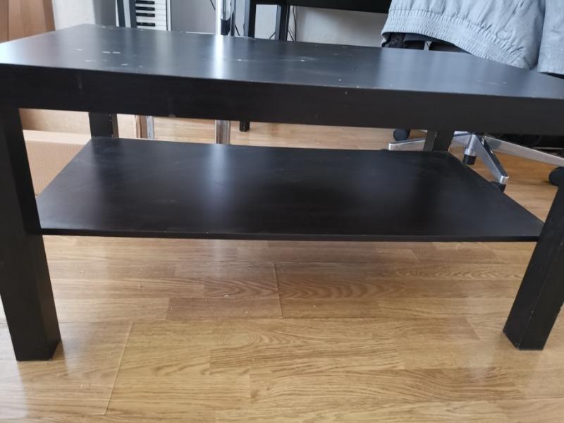 Recyclage, Récupe & Don d'objet : table basse bois noir 2 étages